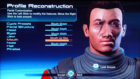 Mass Effect Character Customization