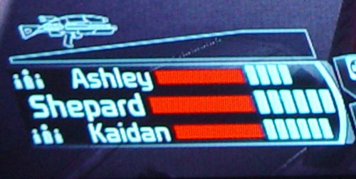 Mass Effect HUD close-up