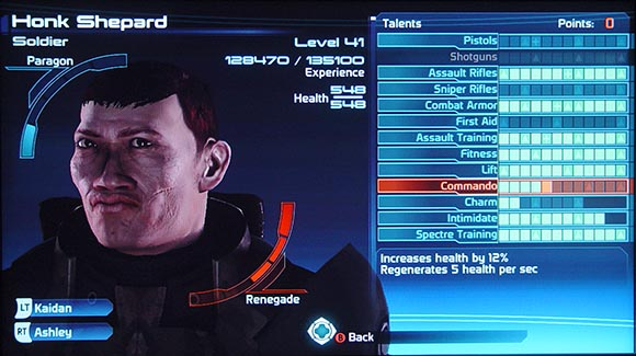 Mass Effect Character Stats
