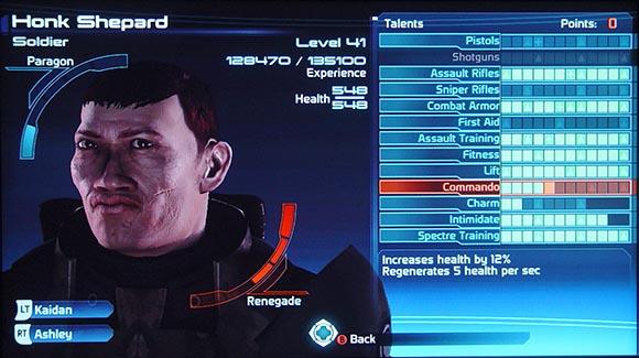 Mass Effect Character Stats