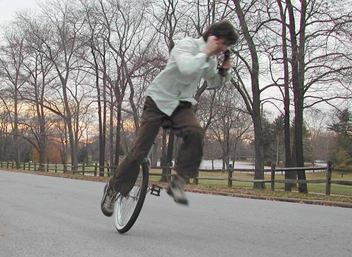 Unicycle Fall