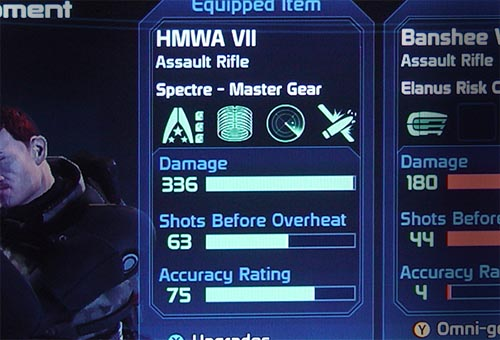 Mass Effect Weapon Stats