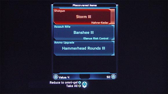 Mass Effect Recovered Items