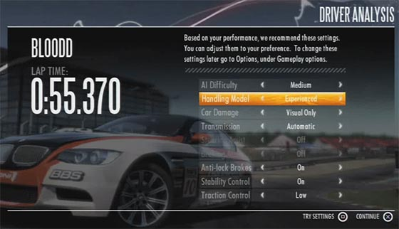 NFS:Shift Difficulty Adjustment
