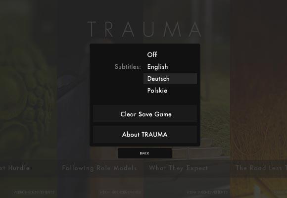 TRAUMA Game Options