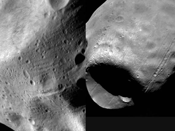 Lutetia yesterday (left) and Phobos in 1978 (right)