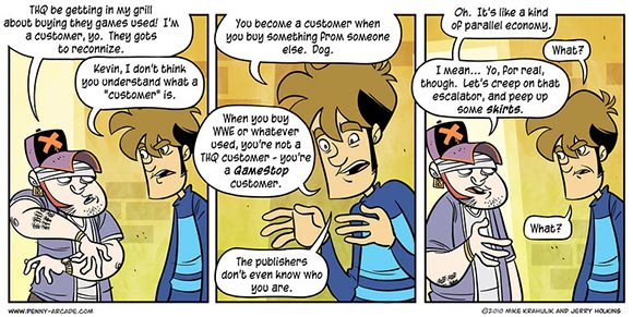 Penny Arcade Used Games Comic