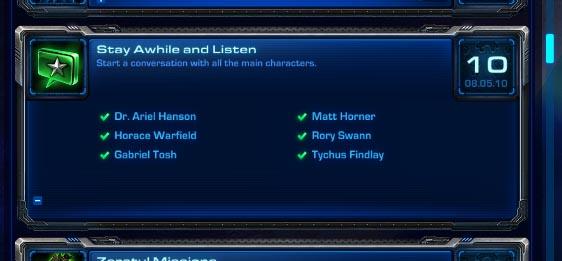 StarCraft 2 Achievement Tracking