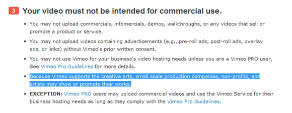 Vimeo Community Guidelines