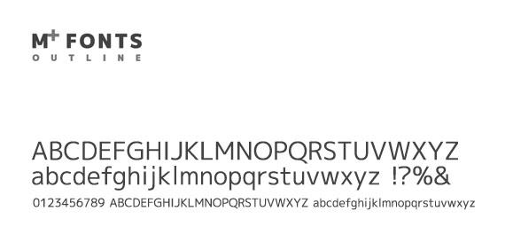 M+ Outline Fonts