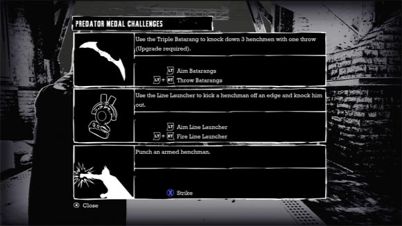 Batman Arkham Asylum - Predator Medals