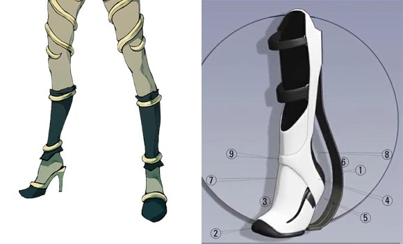 Kat's shoes vs. Long Fall Boots