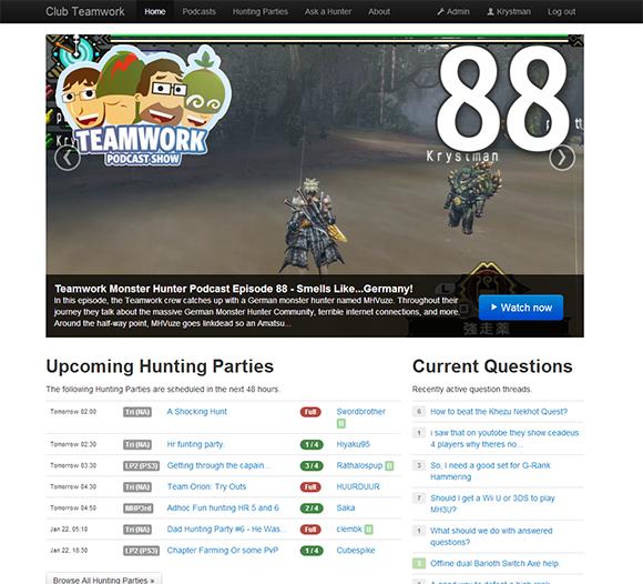 teamworkcast.com - Frontpage