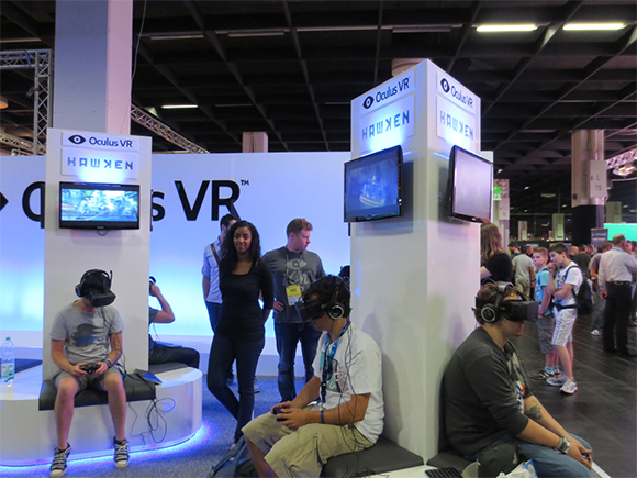 Occulus VR booth at GamesCom